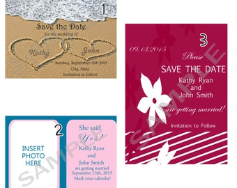 Save the Date (can change color) Option to print