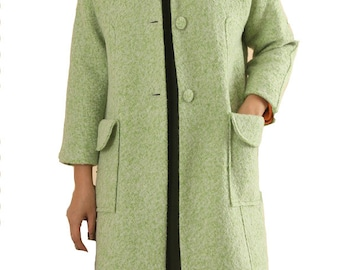 Classic wool coat light green