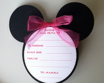MINNIE MOUSE birthday party invitation