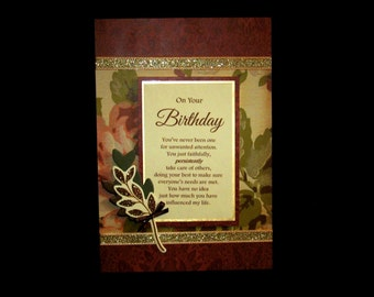 Feminine Birthday Card