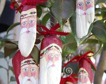 Handpainted Driftwood Santa
