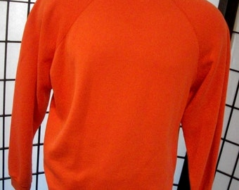 Tultex hunter orange vintage raglan sweatshirt 50/50 xl USA
