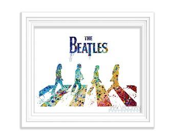 The Beatles Art Print Watercolor Illustration Beatles Poster Painting Home Decor Glicee Wall Decor Wall Art (No.178)