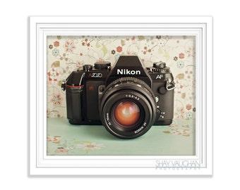 Nikon Camera Art Print Fine Art Photograph Photo Retro Camera Wall Art Home Decor Fine Art Print Vintage Camera Shabby Decor Gift (No.283)