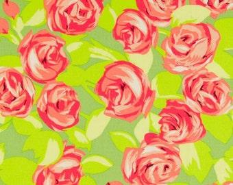 Amy Butler - Free Spirit - Love - Tumble Roses Tangerine - AB48.TANGE  - BY 1 YARD