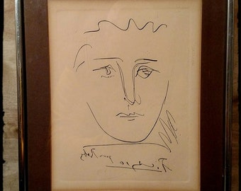 collectible picasso print of pour roby with certificate collectors guild certificate picasso etching print