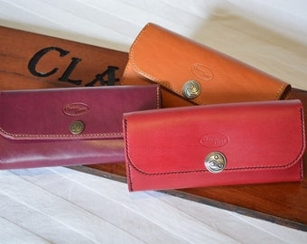 Hand Made Custom Made Leather Ladies Wallet