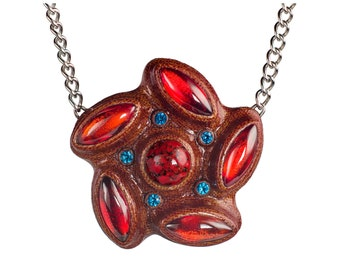 Turbo Pendant - Bakelite Jewelry Necklace Carved in Manhattan
