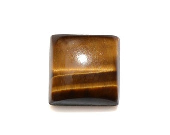 South African Tigers Eye Loose Gemstone Square Cabochon 1A Quality 9mm TGW 3.00 cts.