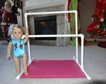 "Gymnastics Uneven Parallel Bars for American Girl McKenna 18"" Doll Great Christmas Present!!"