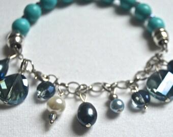 Charm Bracelet -- Turquoise