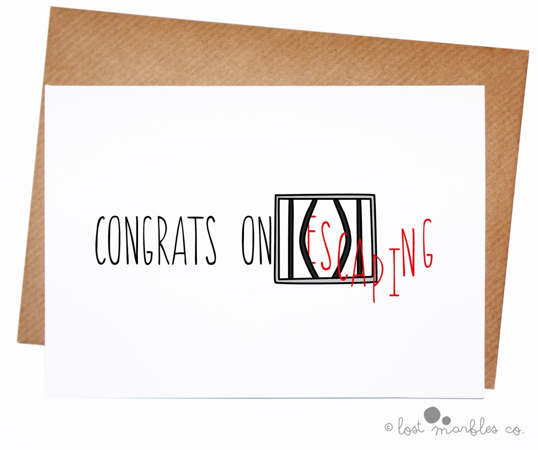 funny new job card leaving card congratulations
