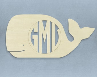 "22.75"" Unfinished Whale Circle Monogram"