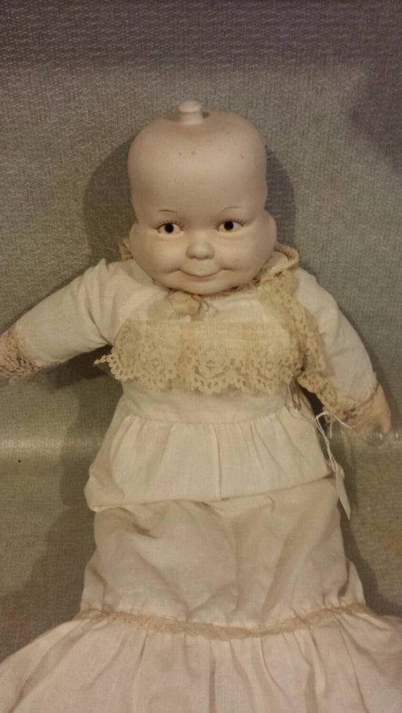 Three Headed Baby Doll Porcelain and Fabric