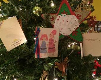 6 Card Set of Handmade Christmas Greeting Cards