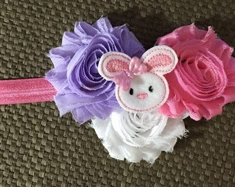 Infant Easter Headband, Bunny headband