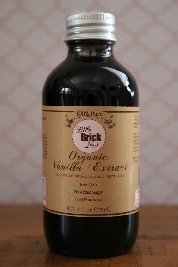 Organic Vanilla Extract 4 Oz Handcrafted 100 Pure