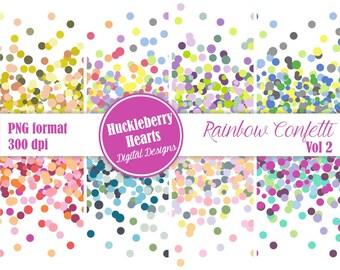 80% OFF SALE Digital Confetti, Confetti Border, Confetti Clipart, Confetti Invitation, Party Confetti