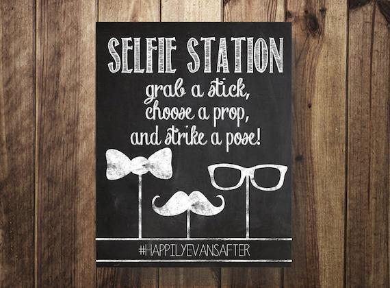 hashtag selfie station selfie stick grab a prop strike a. Black Bedroom Furniture Sets. Home Design Ideas