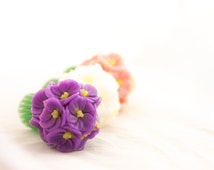 "Flower Soap ""Fragrant Bouquet of Violets"" - a Touching Gift for a Woman Who Loves Flowers"