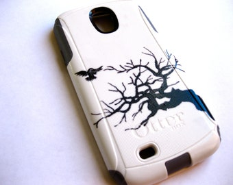 Galaxy S4 Otterbox Case, Otterbox Samsung Galaxy S4 Case Custom,tree Glitter S4 Case