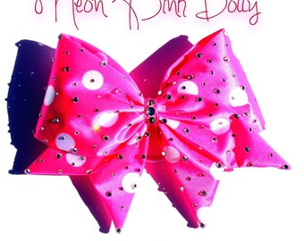 Neon Pink Dotty