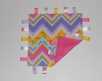 Baby Sensory Blanket, Security Blanket - Multi Color Chevron