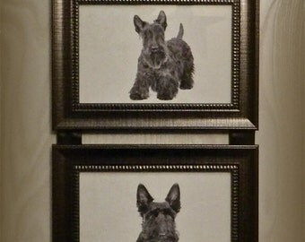 Scottish Terrier Scottie Dog Picture Frame Collage Wall Hanging Art