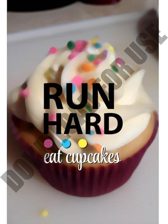 Run Hard iPhone Background, Digital Download, Cupcake Background, iPhone, Phone Decor
