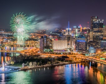 The first fireworks of the year over PNC Park in Pittsburgh - Various Prints