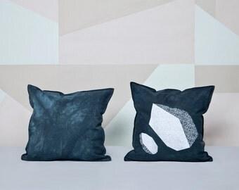 Throw Pillow. Dip Dye Pillow. Decorative Pillow. Printed Pillow. Cotton Pillowcase.