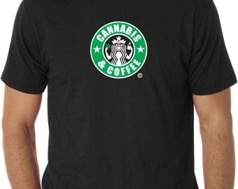 I Love Weed & Coffee tshirt.... Cannabis and Coffee...  weed tshirts... weed shirts... weed shirt... funny tshirts... cannabis clothing
