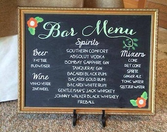 Personalized Chalk Sign - Event or Wedding Chalk Signs - Custom hand lettered signs