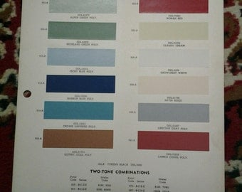 1959 Chevrolet Paint Chip - Ditzler Color Division/Pittsburgh Plate Glass Company
