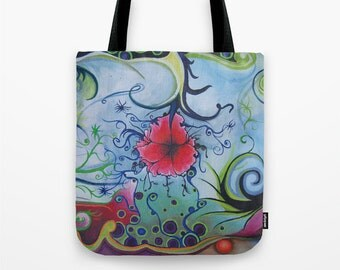 """Art Print on Market Tote 