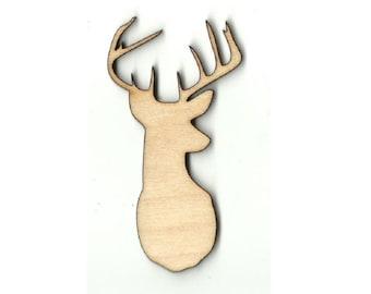 Buck Deer -  Laser Cut Out Unfinished Wood Shape Craft Supply DER33