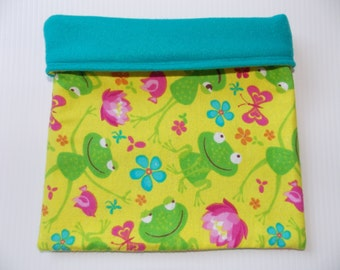 Frog Print Cuddle Sack or Tunnel