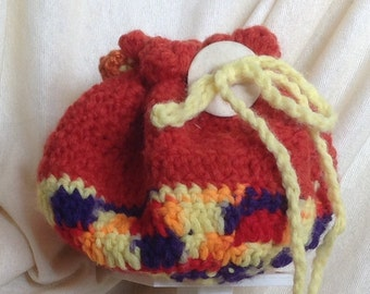 Handmade Crocheted Pouch / Purse