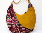 """One of a kind geometric Huipil hobo bag . """"Stella"""""""