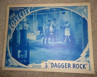 Original 1935 The Lost City Lobby Card Movie Poster RARE Episode 3 Dagger Rock Sherman Krellberg