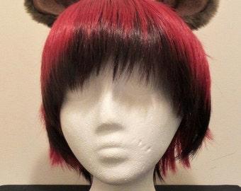 Handmade Brown Bear Ears