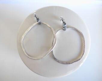 Irregular  hoops. Silver 925