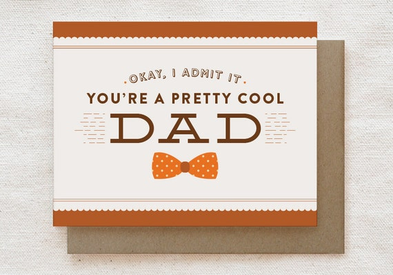 Funny Fathers Day Card Dad Birthday Card Cool Dad – Birthday Card Cool