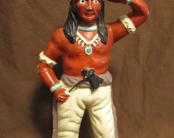 Coin Bank, Cast Iron Indian, 1980's