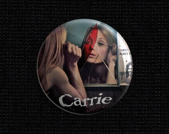 "Carrie movie poster 1 1/2"" pin back button"