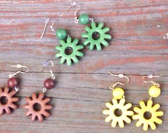 Magnesite Stone Flower Earrings