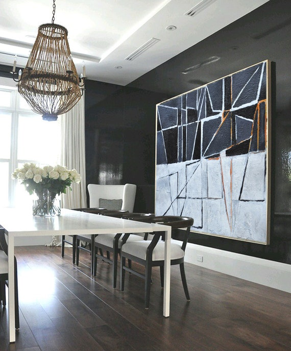 Large painting minimalist art hand painted by celineziangart for Minimalist art images