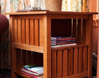Stickley Table No. 516 with Open Bookcase Encyclopedia Table