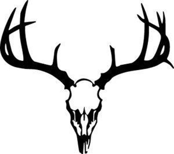 Buck Skull Svg Cut File Can Be Used With on whitetail deer silhouette clip art