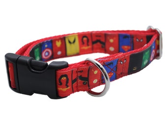 Pink Superman Dog Collar